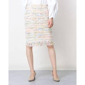 ツイード調ミックスカラースカート (マルチ)