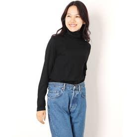 タートルネック長袖Tシャツ (ブラック)
