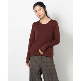 フロントラインウールロングTシャツ (ブラウン)