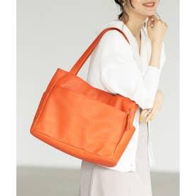 【多収納】10ポケットトートバッグ (オレンジ)