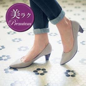 【日本製】美ラクプレミアム走れるパンプス (グレー)
