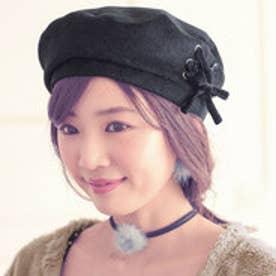 レースアップベレー帽 (クロ)
