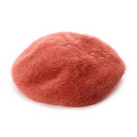 フェイクファーベレー帽 (オレンジ)