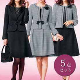 【5点セット】入学も卒業もコレー着!多機能スーツ(白黒×ブラック)