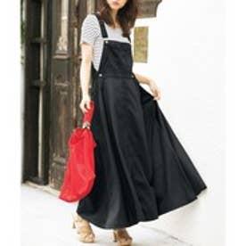 GeeRAサロペットデザインジャンパースカート (ブラック)