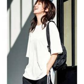 GeeRA綿100%ビッグシルエットTシャツ (オフホワイト)