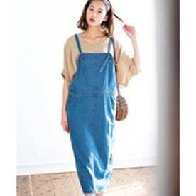 GeeRA綿100%サロペットスカート (デニム)