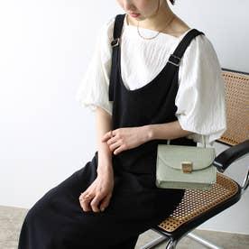 上品ジャンパースカート (ブラック)