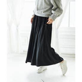 【WEB限定】合繊素材スカーチョ (ブラック)