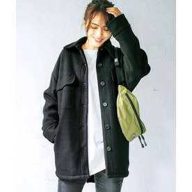 フェイクスライバー素材CPOジャケット (ブラック)