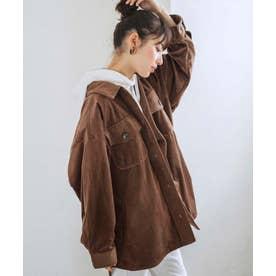 【WEB限定】コーデュロイオーバーサイズジャケット (ブラウン)