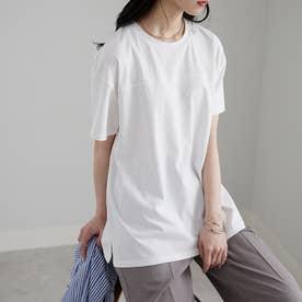 綿100%フットボールTシャツ (オフホワイト)