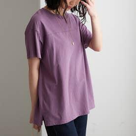 綿100%フットボールTシャツ (パープル)