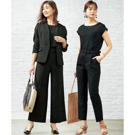【4点セット】シルエット違い2パンツ付4点セットスーツ (ブラック系)