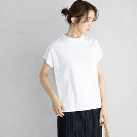 綿100%プチハイネックTシャツ (オフホワイト)