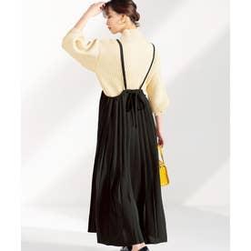 プリーツジャンパースカート (ブラック)