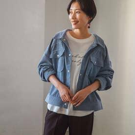 【WEB限定】Gジャン風コーデュロイジャケット (ブルー)【Lサイズ】