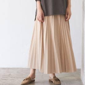 【WEB限定】エコレザープリーツスカート (オフベージュ)