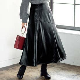 フェイクレザースカート (ブラック)