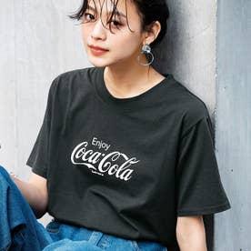 コカ・コーラプリントTシャツ (ロゴチャコール)