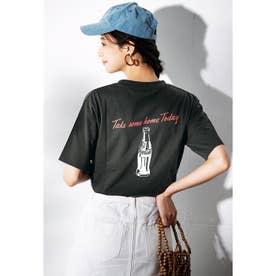 コカ・コーラプリントTシャツ (ボトルチャコール)