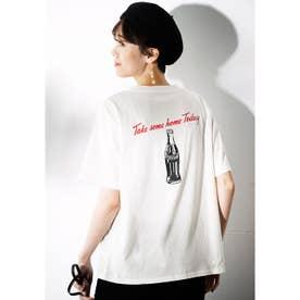 コカ・コーラプリントTシャツ (ボトルホワイト)