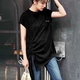 バックブロークンアシメTシャツ (ブラック)