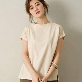 綿100%フレンチスリーブTシャツ (グレージュ)