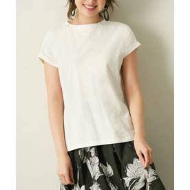 綿100%フレンチスリーブTシャツ (オフホワイト)