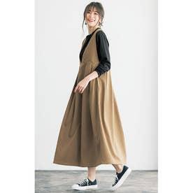 2WAYロングジャンパースカート (モカ)