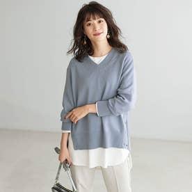 選べる裾デザイン!綿100%吸湿発熱Tシャツ (ラウンドオフ白)
