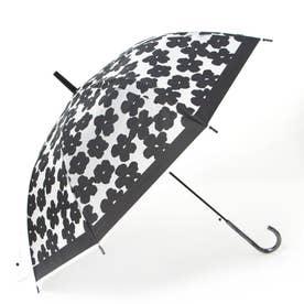フラワー柄プリントビニール傘 (ブラックケイ)