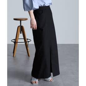 チノライクロングタイトスカート (BL)
