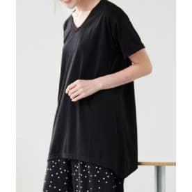 レディゆるシルエットTシャツ (ブラック)