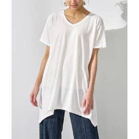 レディゆるシルエットTシャツ (オフホワイト)