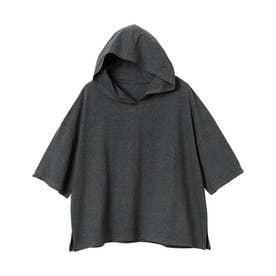 フーディーTシャツ (チャコールグレー)
