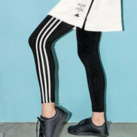 〈adidas〉スリーストライプスタイツ (ブラック)