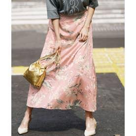 プリントナロースカート (スモーキーピンク)