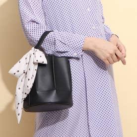 スカーフ巾着型ショルダーバッグ(1R18-BA2021) (クロ)
