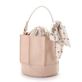 スカーフ巾着型ショルダーバッグ(1R18-BA2021) (ピンク)