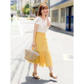 【Rewde】マーメイドラインスカート(9R10-05097) (イエロー)