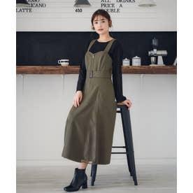 【Rewde】★2WAY★ジャンパースカート(0R05-08187) (カーキ)