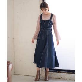 【Rewde】★2WAY★ジャンパースカート(0R05-08187) (ダークブルー)