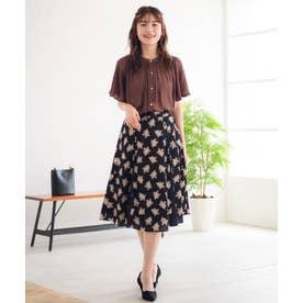 【Rewde】サイドスピンドールフラワーハギスカート(0R10-08147) (クロ)