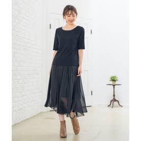 【Rewde】ラメシフォンアシンメトリースカート(0R10-08172) (クロ)