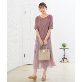 【Rewde】ラメシフォンアシンメトリースカート(0R10-08172) (モカ)