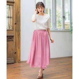【Rewde】ラメシフォンアシンメトリースカート(0R10-08172) (スモーキーピンク)