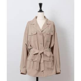 【Rewde】CPO/サファリシャツジャケット (0R16-08050) (ベージュ)