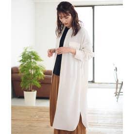【Rewde】フロントポケットロングシャツ(0R13-08113) (シロ)
