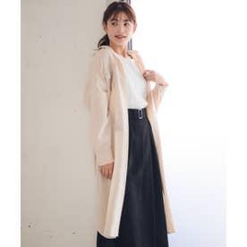 【Rewde】フロントポケットロングシャツ(0R13-08113) (ベージュ)